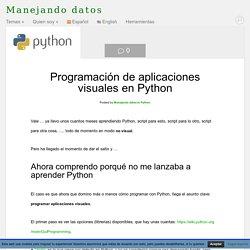 Programación de aplicaciones visuales en Python - Manejando datos