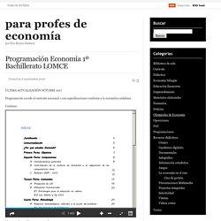 Programación Economía 1º Bachillerato LOMCE