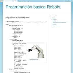 Programación basica Robots: Programacion de Robot Mitsubishi