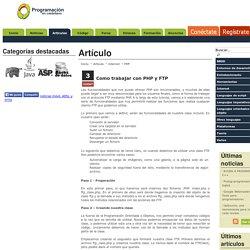 Como trabajar con PHP y FTP. Programación en Castellano.
