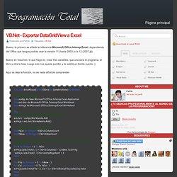 VB.Net - Exportar DataGridView a Excel