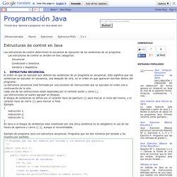 Programación Java: Estructuras de control en Java