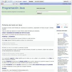 Programación Java: Ficheros de texto en Java
