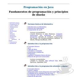 Programaci n en Java: Fundamentos de programaci n y principios de dise o