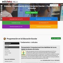 Eduteka - Programación en la Educación Escolar > Fundamentos > Artículos