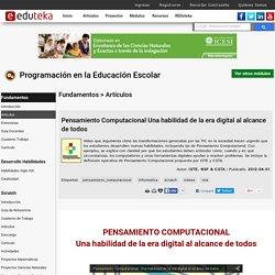 Pensamiento computacional - Programación en la educación escolar