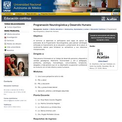 Programación Neurolingüística y Desarrollo Humano