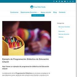 Ejemplo de Programación Didáctica de Educación Infantil - Grupo Pedro Nicolás
