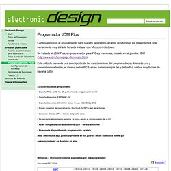 Programador JDM Plus - Electronic Design