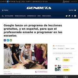 Aprender a programar: Google lanza cursos gratuitos para profesorado y alumnado