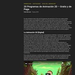 20 Programas de Animación 2D - Gratis y de Paga