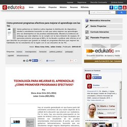 Cómo promover programas efectivos para mejorar el aprendizaje con las TIC
