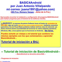 Tutorial Español Programas BASIC4Android