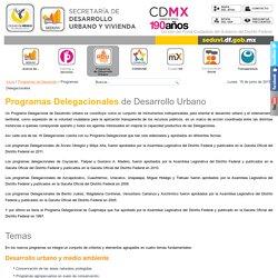 Programas Delegacionales