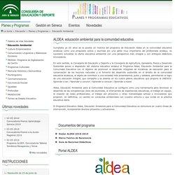 Planes y programas - Educación Ambiental - Consejería de Educación
