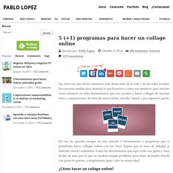 5 programas para hacer collages online