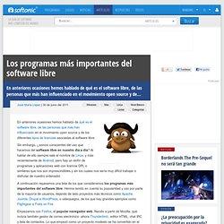 Software libre: los mejores programas
