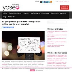 10 programas para hacer infografías online gratis en español