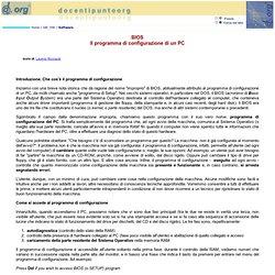 BIOS Il programma di configurazione di un PC