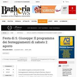 Festa di S. Giuseppe: Il programma dei festeggiamenti di sabato 2 agosto