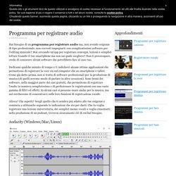 Programma per registrare audio