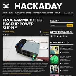Programmable DC Backup Power Supply