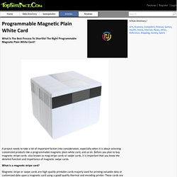Programmable Magnetic Plain White Card