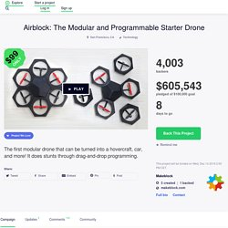 Airblock: The Modular and Programmable Starter Drone by Makeblock