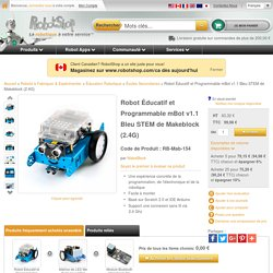 Robot Edition et programmable mBot v1.1 Bleu STEM by Makeblock (2.4G)