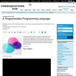 A Programmable Programming Language