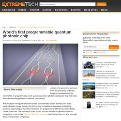 World's first programmable quantum photonic chip