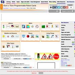 15cm x 15cm programmable robot cards - ICT