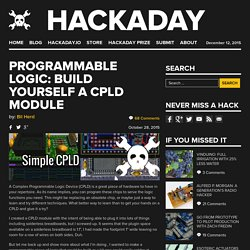 Programmable Logic: Build Yourself a CPLD Module