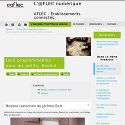 Jeux programmables pour les petits, Beebot - L'@FLEC numérique
