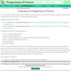 Attestati personalizzati - ProgrammaIlFuturo.it