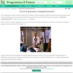 Il Pensiero Computazionale - ProgrammaIlFuturo.it