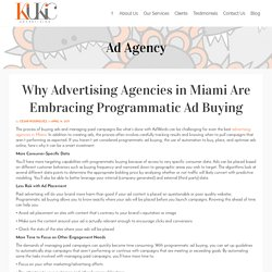 Why Advertising Agencies in Miami Are Embracing Programmatic Ad Buying