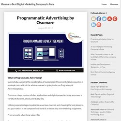 Programmatic Advertising by Osumare