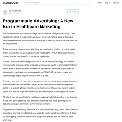 Programmatic Advertising: A New Era in Healthcare Marketing