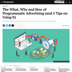 The What, Why and How of Programmatic Advertising (and 5 Tips on Using It)