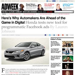 Auto Brands Drive Digital Spend With Programmatic and Mobile Investments