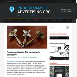 Programmatic ads: The consumer's perspective - ProgrammaticAdvertising.org
