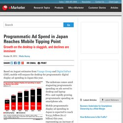 Programmatic Ad Spend in Japan Reaches Mobile Tipping Point
