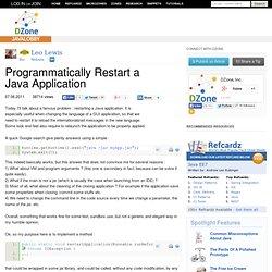 Programmatically Restart a Java Application