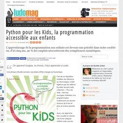 Python pour les Kids, la programmation accessible aux enfants