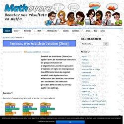 Exercices avec Scratch en troisième [3ème], programmation et algorithme.