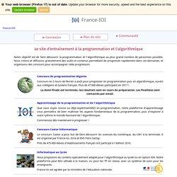 France-IOI – Le site d'entraînement à la programmation et l'algorithmique