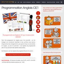 Programmation Anglais CE1