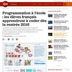 Programmation à l'école : les élèves français apprendront à coder dès la rentrée 2016