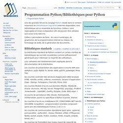 Programmation Python/Bibliothèques pour Python